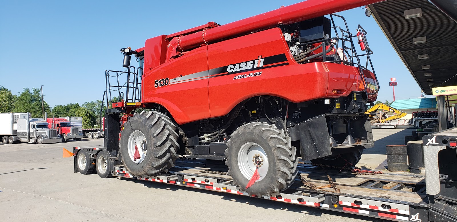 2013 Case IH 5130 being transported