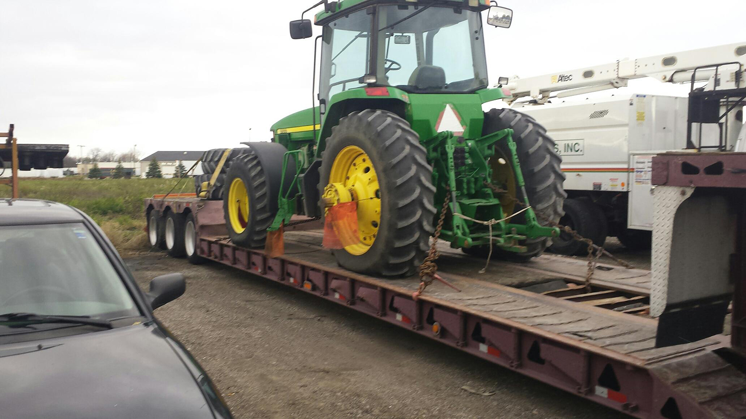 Shipping John Deere 8100 Row Crop Tractor